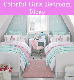 Teen Girl Bedrooms for sweet cozy room decor - Delightful and charming teen room decor. Tip reference 7511149907 Categorized at teen girl bedrooms small room , pinned on this date 20190312 Twin Girl Bedrooms, Sister Bedroom, Twin Bedroom Ideas, 6 Year Old Girl Bedroom, Ladies Bedroom, Shared Bedrooms, Twin Girls, Kids Bedroom Furniture, Home Decor Bedroom