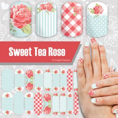 Rose Jamberry NAS Nail wraps - See my full selection at https://www.facebook.com/groups/cjhnas/