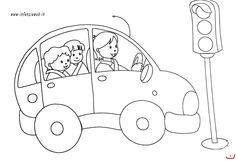 educazione stradale scuola infanzia schede da colorare - Cerca con Google