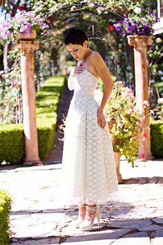 Gorgeous vintage 1950s prom dress on the lovely @Karla Pruitt Deras  Those are some serious heels she's wearing!