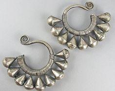 Vintage chinois argent boucles d'oreilles Miao Hmong bijoux bijoux ethniques asiatiques bijoux bijoux Vintage
