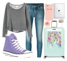 """""""Bye. """" by owls-are-awesome ❤ liked on Polyvore featuring 7 For All Mankind, RVCA, Converse, Ted Baker, Kate Spade, claire's and Beats by Dr. Dre"""