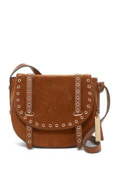 027b950d57a0 Vince Camuto Areli Suede Flap Shoulder Bag Clearance Handbags