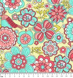 d41570aa03 Tecido Tricoline Estampa Floral Fundo Areia - Coleção Jardim Secreto - 50 cm  X 150 cm