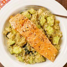 Honey Garlic Salmon and Quinoa Bowl