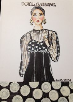 Fashion Illustration by Susan Chung Dolce & Gabbana https://www.facebook.com/pages/Susan-Chung-Illustrations/331104350407447?ref=hl Instagram: @susanchungfashion