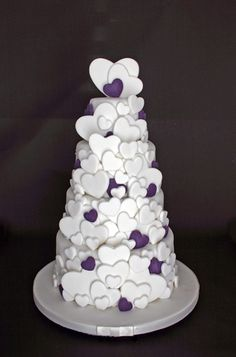 Wedding Cake - Heart Cascade by Scrumptious Cakes (Paula-Jane), via Flickr