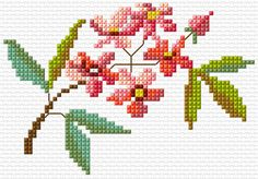 Cross Stitch | Flower xstitch Chart | Design