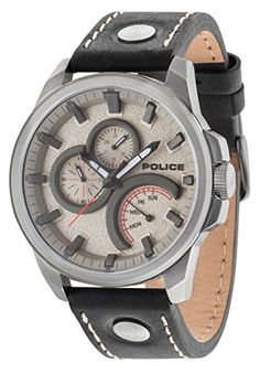 e286f6cdfae Police-Mens-Quartz-Watch-with-Grey-Dial-Analogue-
