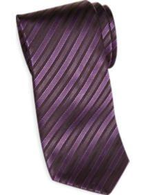 Egara Purple and Black Stripe Narrow Tie