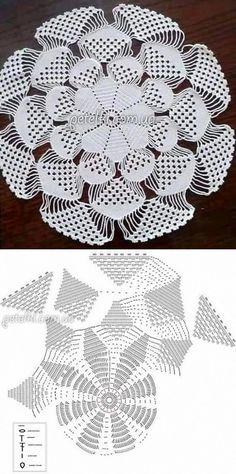 3D салфетка крючком. Схема, видеоурок