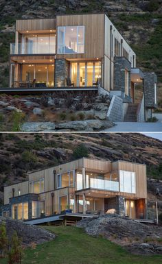 Beautiful. Love how the home blends into the rocks and scenery