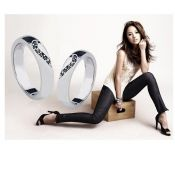 $2.53 Fashion Love Heart Alloy Couple Ring Black