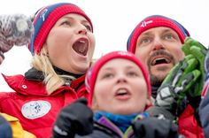Princess Ingrid Alexandra, Crown Princess Mette-Marit, Crown Prince Haakon and Prince Sverre Magnus attended the FIS Nordic World Ski Championships on February 27, 2015 in Falun, Sweden