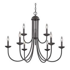 This beautiful Williamsport 9 Light Chandelier In Oil Rubbed Bronze by ELK Lighting Group is the perfect addition to brighten up your home. Material Metal Finish Oil Rubbed Bronze Height 29 Length 34 Width 34 Weight 9 Bulb Type Candelabra Bulb Included No Bronze Chandelier, Modern Chandelier, Chandelier Lighting, Chandeliers, Candle Chandelier, Country Chandelier, Coastal Chandelier, House Lighting, Pendant Lamps
