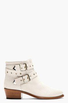 Pollini Studio Stone Grey Snakeskin Ankle Boots for women | SSENSE