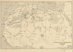 Map of Great Trading Routes of the Sahara, 1889