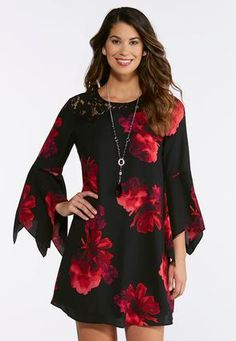 f09dc7bc704 Cato Fashions Plus Size Floral And Lace Swing Dress #CatoFashions Cato  Fashion Plus Size,