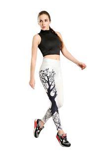2016春季许愿树白底 显瘦提臀紧身透气速干女九分瑜伽裤yoga-0008