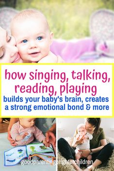 Playing classical music, songs, and singing to your baby is an important vehicle for early language development as well as a way to communicate love to your child. Included are lists of music to play for your baby at bedtime, naptime, & playtime. Music Activities For Kids, Brain Activities, Music For Kids, Infant Activities, Family Activities, Emotional Development, Language Development, Child Development, Music Education