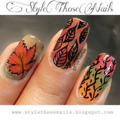please read more http://stylethosenails.blogspot.com/2015/10/fallautumn-nails-3-in-1-nail-art-ideas.html Style Those Nails: Fall/Autumn Nails- 3 in 1 Nail Art Ideas #1 (Video Tutorial)