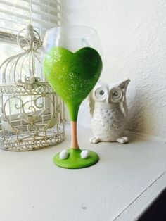 Tinkerbell Wine Glass by take2upcycling on Etsy