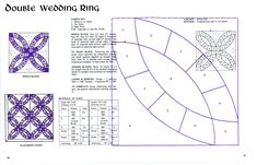 Double wedding ring quilt kits