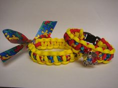 Autism Awareness..  550 paracord bracelets This takes you to a FB selling sight, but I love the idea of running the autism ribbon inside the paracord.