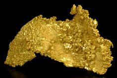 One of the new well crystallized golds from Round Mtn., Nevada