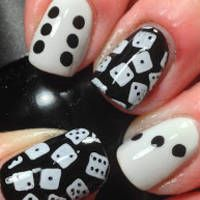 Lovin' the black and white from ALL the @David Myers-alDozen , #Nailart, #nails, #nailpolish,