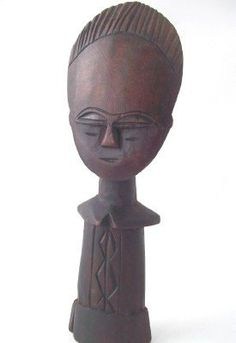 vintage african hand carved wood figurine by RecycleBuyVintage, $35.00
