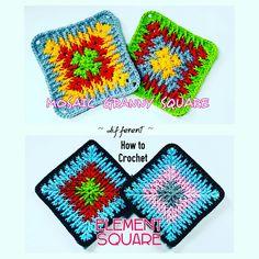 Ready Mosaic Granny Square Crochet Tutorial https://youtu.be/iQp9Tc7mjr4