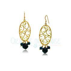 Elegant Swirls with Lapiz Lazuli Earring