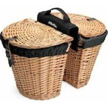 Electra Wicker Saddle Bicycle Baskets - I have these on my bike....very useful and sturdy!