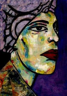 "Saatchi Art Artist CARMEN LUNA; Painting, ""80-RETRATOS Expresionistas. Leyenda."" #art http://www.saatchiart.com/art-collection/Painting-Assemblage-Collage/Expressionist-Portrait/71968/51263/view"