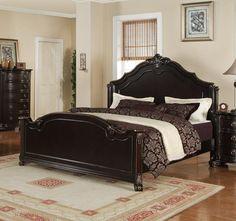 Bedroom Sets Espresso harrison bedroom set (espresso finish) - [hs600qb] : decor south