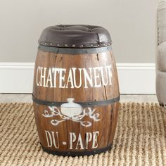 Safavieh Home Collection Bryce Brown Barrel Stool *** Awesome product. Click the image : Garden cart