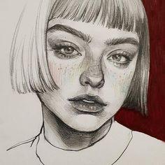 Cute Paintings For Girls Friends L'art Du Portrait, Portrait Sketches, Kunst Inspo, Art Inspo, Pencil Art Drawings, Art Drawings Sketches, Art Du Croquis, Photographie Portrait Inspiration, Arte Sketchbook