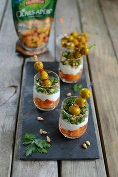 Verrines Provençales et Olives apéro