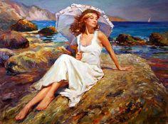 Kadınsı güzellik ve hassasiyet, kadın yağlı boya resimleri