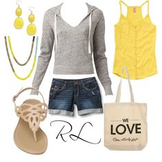 Lemon drop, created by rosa-lauber on Polyvore