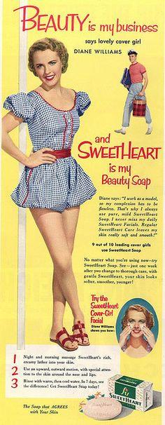 Glamorous Vintage Print Ad Gay 1953 Miami Beach