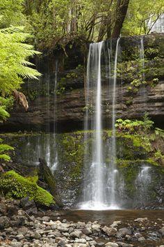 Russell Falls, Mount Field National Park  More info: http://www.holidayhunter.com.au/tasmania/mount-field-national-park/