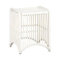 Crate & Barrel Kruger White Side Table