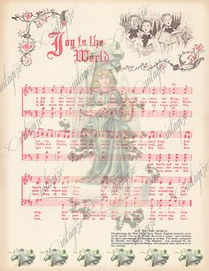 Craftluxuries Free Vintage Flower Sheet Music Template Design By . Music Christmas Ornaments, Christmas Sheet Music, Silver Christmas Decorations, Christmas Love, Country Christmas, Christmas Pictures, Vintage Christmas, Christmas Holidays, Xmas