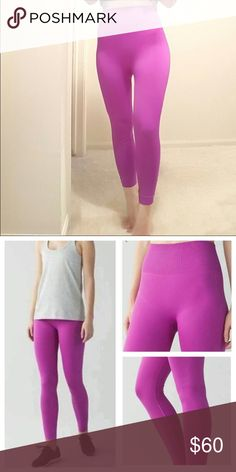 Luulemon zone in size 2 Never worn, purchased from another awesome seller that hadn't worn them either. No tags. Like new! So cute but I need a 6 or 8 😩! lululemon athletica Pants Leggings