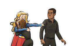 Danvers sisters - Space family - Alex and Kara Danvers - J'onn J'onzz - Supergirl - Season 1
