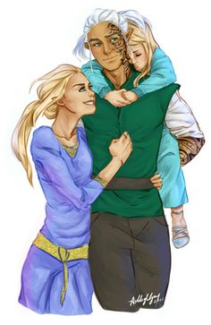 I don't have a ship in this series, but this is so cute! Aelin Ashryver Galathynius, Rowan Whitethorn and their daughter