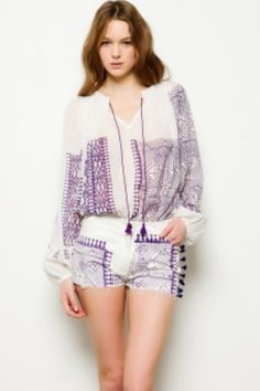 Gorgeous sheer printed cotton voile blouse could work as a swim cover up  too!   2555dba3f