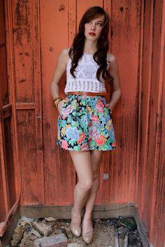 floral shorts via ebv #floral #shorts #vintage